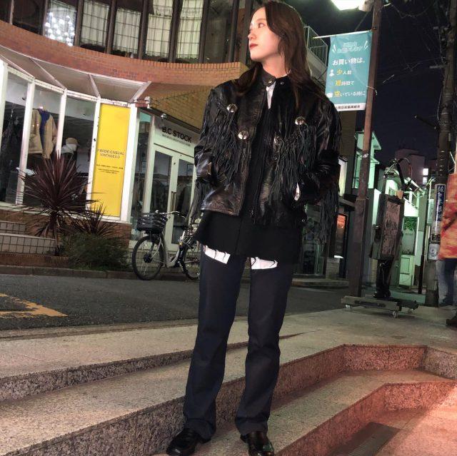 Leather fringe jacket💫 #alaska_tokyo #vintage #shimokitazawa