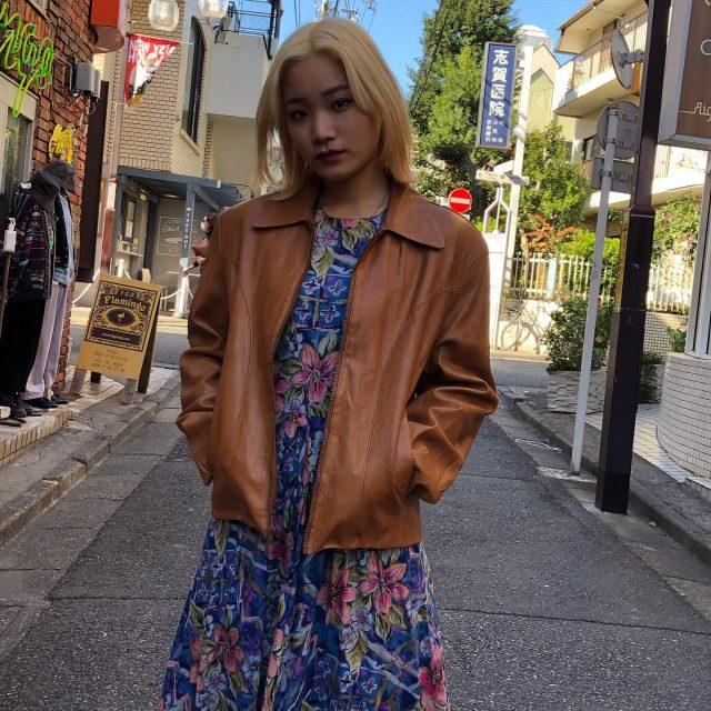 Short single leather jacket🕶 #alaska_tokyo #vintage #shimokitazawa