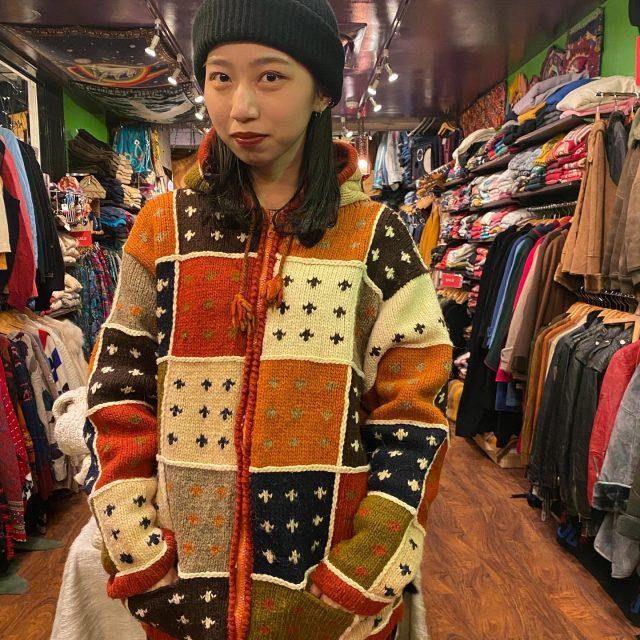 🧶🧶knit hoodie  #alaska_tokyo #vintage #shimokitazawa