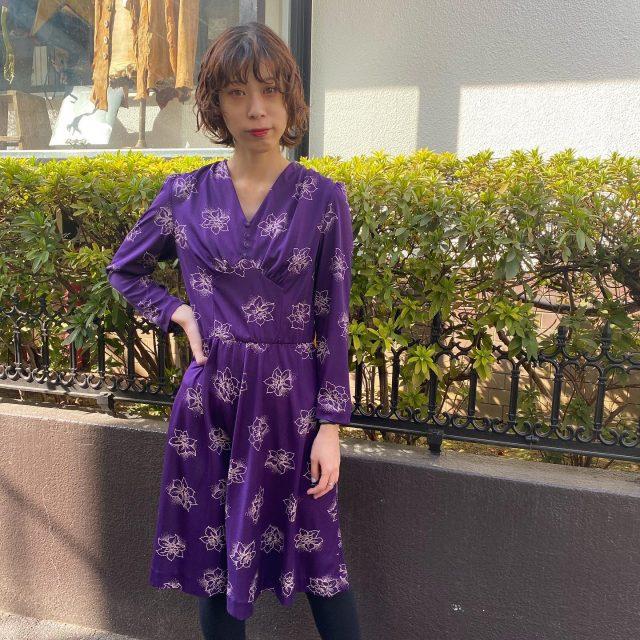💜👗polyester  dress    #alaska_tokyo  #vintage #shimokitazawa
