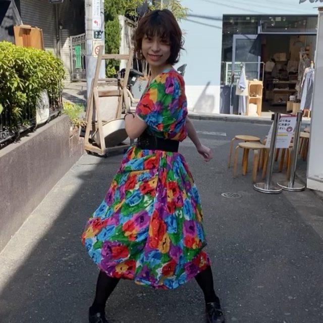 🌻🌻Indian cotton dress   #alaska_tokyo  #vintage #shimokitazawa