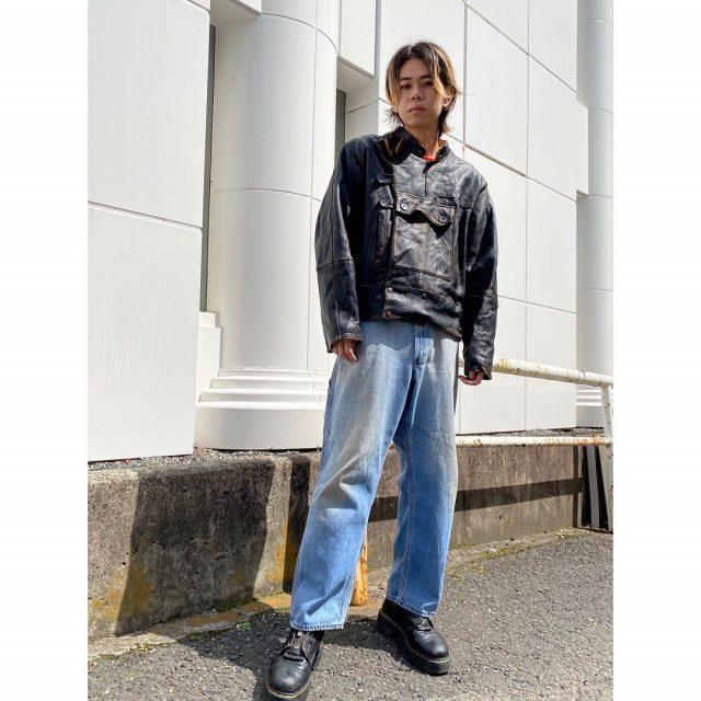 【men's】 ・motor cycle leather jacket ・painter pants  #alaska_tokyo #vintage #shimokitazawa #usedclothing