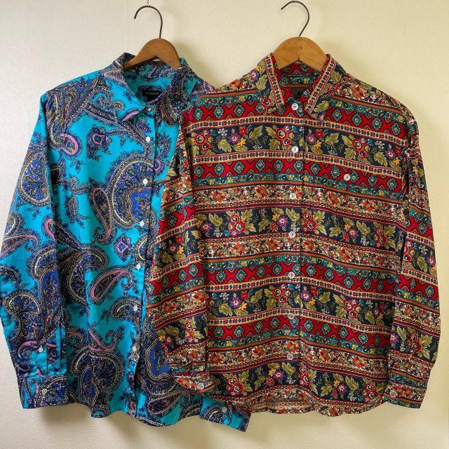 【women's】paisley shirt Left ¥5,500- Right ¥5,500-  #alaska_tokyo #vintage #shimokitazawa #usedclothing