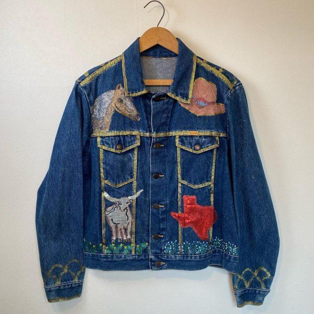 【women's】Paint denim jacket ¥9,900-  #alaska_tokyo #vintage #shimokitazawa #usedclothing
