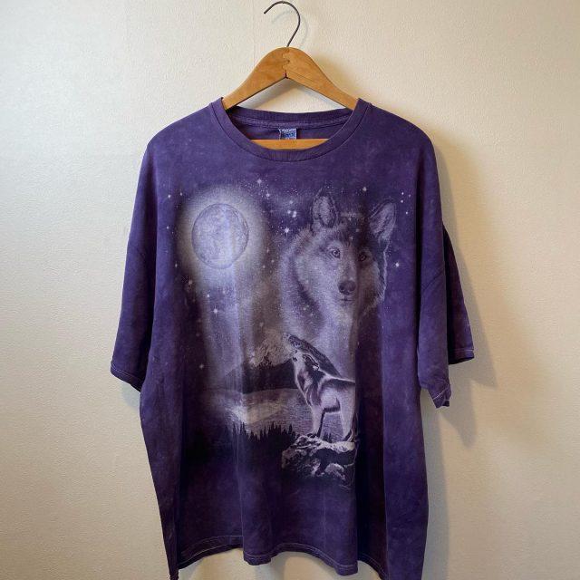 【men's】Wolf&Moon T-shirt ¥3,850-  #alaska_tokyo #vintage #shimokitazawa #usedclothing