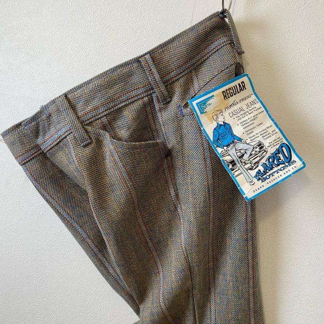 【women's】 SEARS Stripe flare pants ¥8,800-  #alaska_tokyo #vintage #shimokitazawa #usedclothing