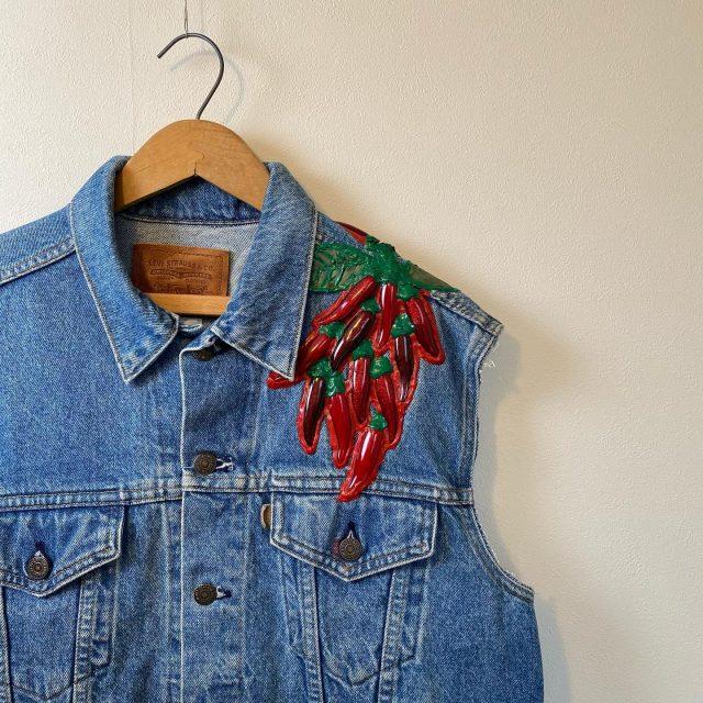 【men's】Chili Denim Vest ¥4,400-  #alaska_tokyo #vintage #shimokitazawa #usedclothing