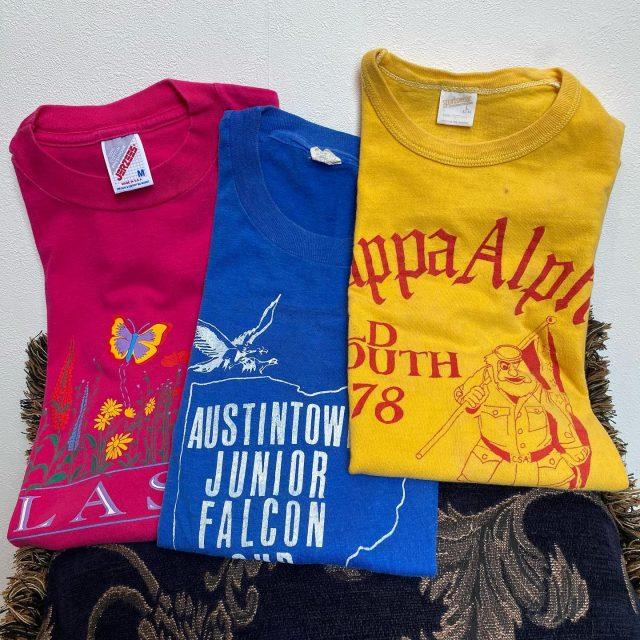 【women's】 Color T-shirt PK/¥4,400- BLU/¥2,200- YEL/¥4,950-  #alaska_tokyo #vintage #shimokitazawa #usedclothing