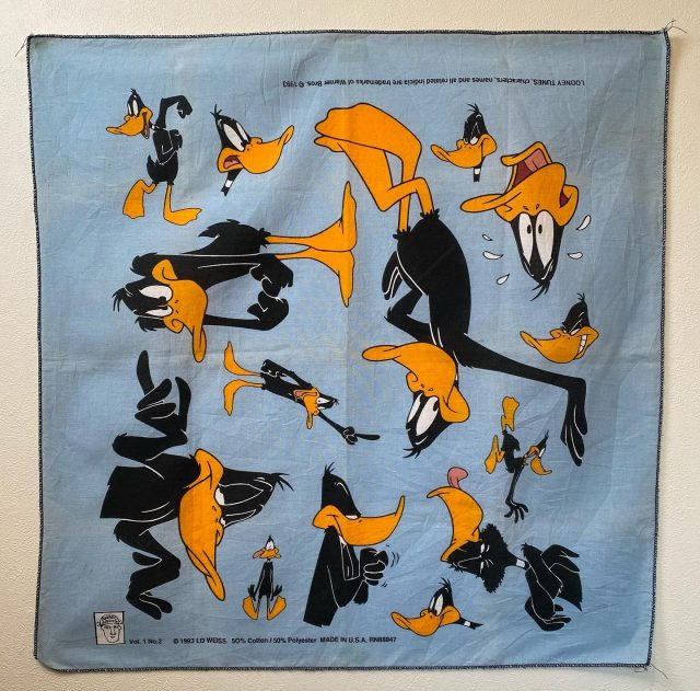 【men's】looney tunes daffy duck BANDANNA ¥2,750-  #alaska_tokyo #vintage #shimokitazawa #usedclothing