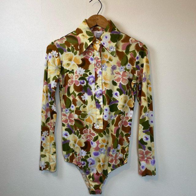 【women's】Body bliffer polyester flower shirt ¥5,500-  #alaska_tokyo #vintage #shimokitazawa #usedclothing