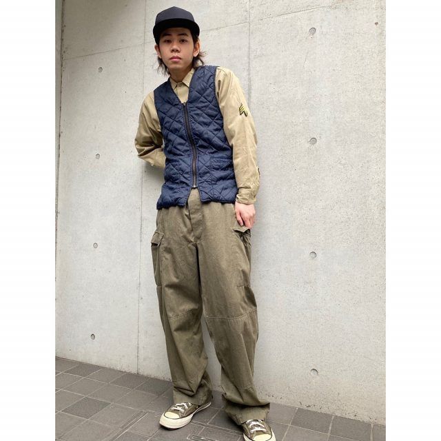 【men's】 ・Cali headwear cap(new) ・Star work shirts ・quilting vest ・cargo  pants  #alaska_tokyo #vintage #shimokitazawa #usedclothing