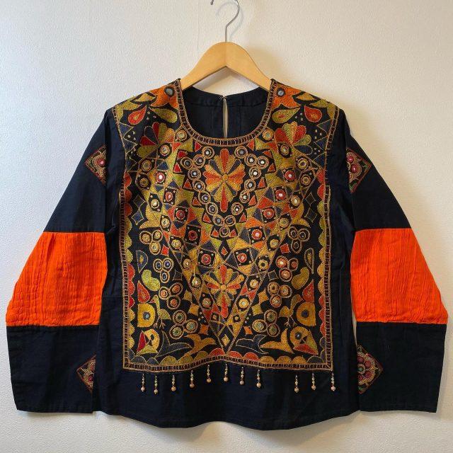 【women's】 Indian mirror work tunic ¥11,000-  #alaska_tokyo #vintage #shimokitazawa #usedclothing