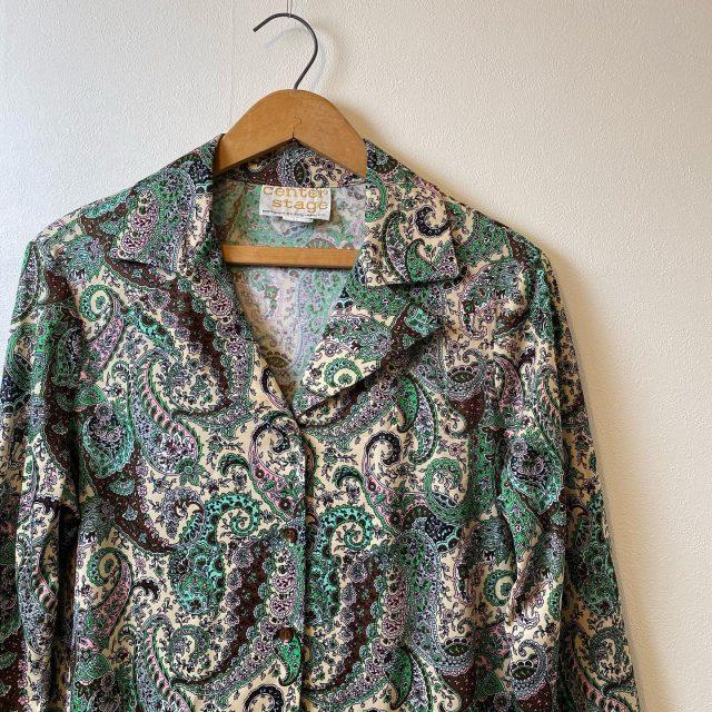【women's】Paisley polyester shirt ¥4,950-  #alaska_tokyo #vintage #shimokitazawa #usedclothing