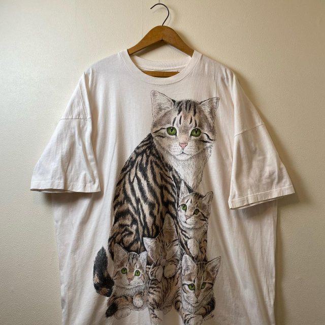 【women's】Cat big T-shirt ¥6,600-  #alaska_tokyo #vintage #shimokitazawa #usedclothing