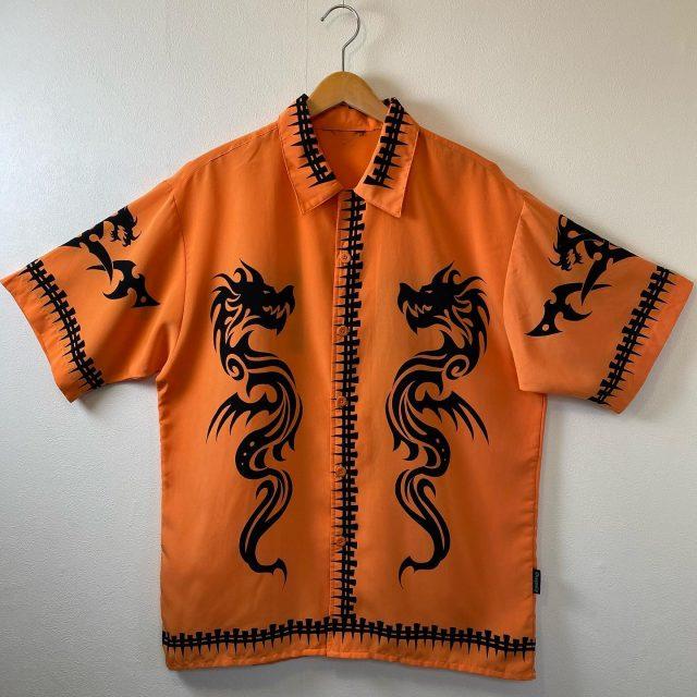 【men's】Dragon fly short sleeve shirt ¥5,500-  #alaska_tokyo #vintage #shimokitazawa #usedclothing
