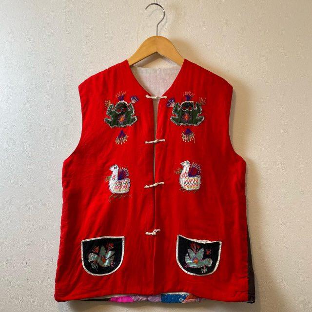 【women's】 living thing patchwork quilting vest ¥11,000-  #alaska_tokyo #vintage #shimokitazawa #usedclothing