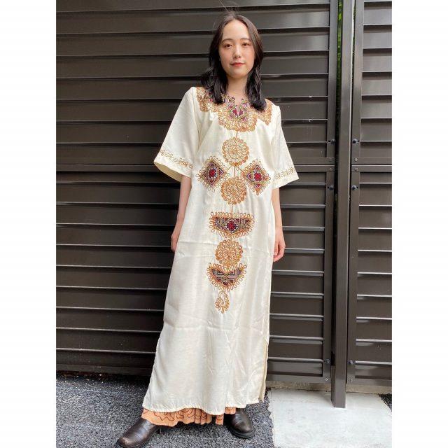 【women's】  ・Moroccan  embroidered caftan dress ・Indian embroidered skirt  #alaska_tokyo #vintage #shimokitazawa #usedclothing