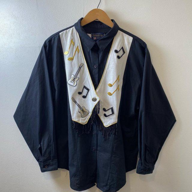【women's】 note fringe  shirt ¥7,700-  #alaska_tokyo #vintage #shimokitazawa #usedclothing