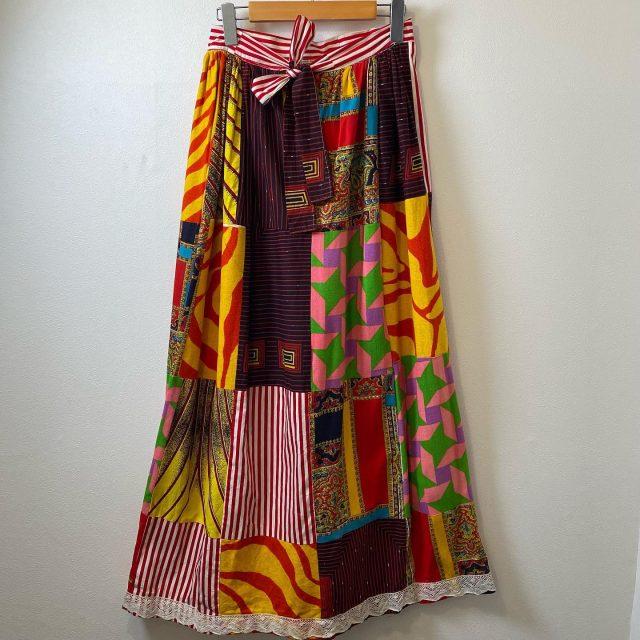 【women's】 patchwork  skirt ¥11,000-  #alaska_tokyo #vintage #shimokitazawa #usedclothing