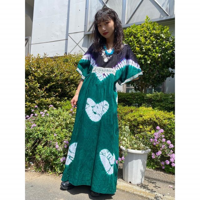 【women's】  ・batik dress  #alaska_tokyo #vintage #shimokitazawa #usedclothing