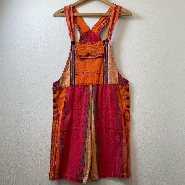 【women's】 Stripe short overall ¥7,700-  #alaska_tokyo #vintage #shimokitazawa #usedclothing
