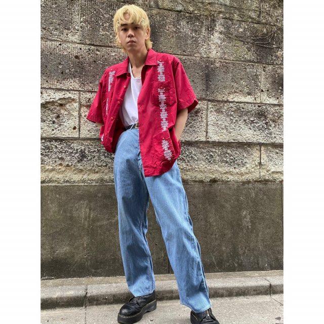 【men's】 ・CUBA shirts ・HEAD LIGHT painter pants  #alaska_tokyo #vintage #shimokitazawa #usedclothing