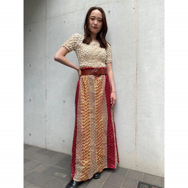 【women's】  ・popcorn upper garment ・lace skirt  #alaska_tokyo #vintage #shimokitazawa #usedclothing