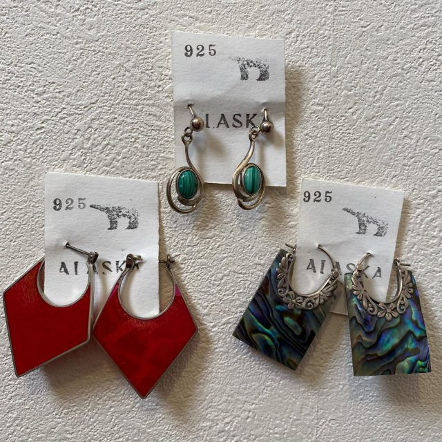 【women's】 vintage pierce RED/¥4,400- BLUE/¥5,500- GREEN/¥4,400-  #alaska_tokyo #vintage #shimokitazawa #usedclothing