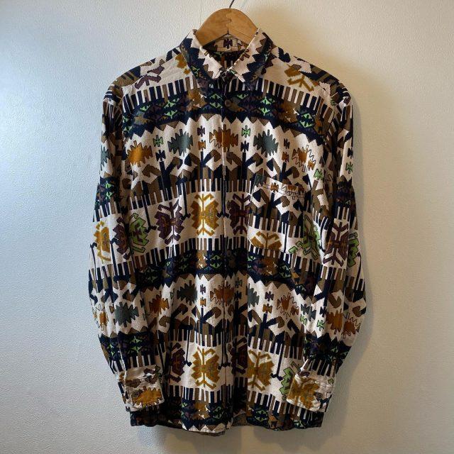 【men's】native pattern long sleeve shirt ¥5,500-  #alaska_tokyo #vintage #shimokitazawa #usedclothing