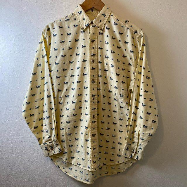 【men's】duck pattern long sleeve shirt ¥4,950-  #alaska_tokyo #vintage #shimokitazawa #usedclothing