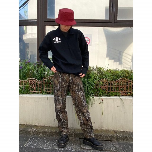 【men's】 ・umbro pullover shirts ・real tree camo pants  #alaska_tokyo #vintage #shimokitazawa #usedclothing