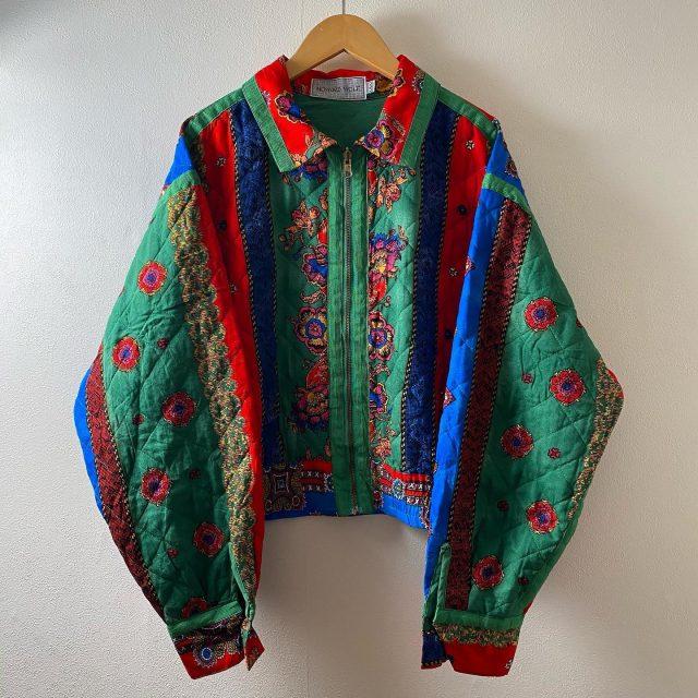 【women's】  quilting cropped  jacket ¥8,800-  #alaska_tokyo #vintage #shimokitazawa #usedclothing