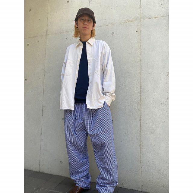 【men's】 ・Cotton work jacket ・Chef pants ・Corduroy cap  #alaska_tokyo #vintage #shimokitazawa #usedclothing